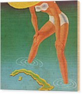 Cuba, Ideal Vacation Land Wood Print