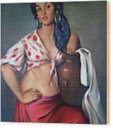 Cuban Girl Wood Print