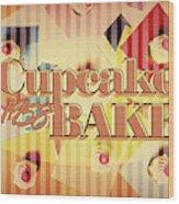 Cupcake Bake 1958 Wood Print