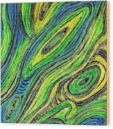 Curved Lines 5 Wood Print