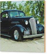Custom 1937 Chevrolet Coupe Wood Print