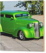 Custom 1938 Chevrolet 2 Door Coach  Wood Print
