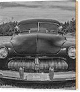 Customized 1950 Mercury In Bw Wood Print