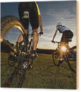 Cycling Adventure Wood Print