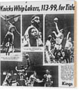 Daily News Back Page Dated May 9, 1970 Wood Print