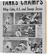 Daily News Front Page October 10, 1938 Wood Print