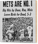 Daily News Front Page October 17, 1969 Wood Print