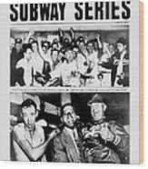 Daily News Front Page October 3, 1948 Wood Print