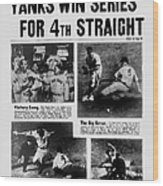 Daily News Front Page October 9, 1939 Wood Print
