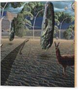 Dali's Llama Wood Print