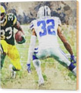 Dallas Cowboys Against Green Bay Packers. Wood Print