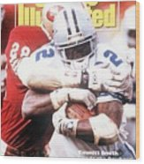 Dallas Cowboys Emmitt Smith, 1993 Nfc Championship Sports Illustrated Cover Wood Print