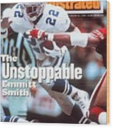 Dallas Cowboys Emmitt Smith, 1994 Nfc Championship Sports Illustrated Cover Wood Print