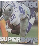 Dallas Cowboys Emmitt Smith, Super Bowl Xxx Sports Illustrated Cover Wood Print