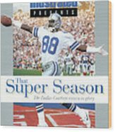 Dallas Cowboys Michael Irvin, Super Bowl Xxvii Sports Illustrated Cover Wood Print