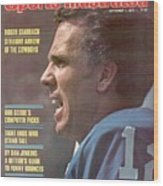 Dallas Cowboys Qb Roger Staubach... Sports Illustrated Cover Wood Print