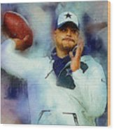 Dallas Cowboys.dak Prescott. Wood Print