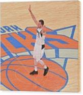 Dallas Mavericks V New York Knicks Wood Print
