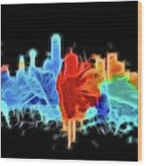 Dallas Neon Color Blast Wood Print