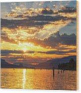 Dalton Point Sunrise Wood Print