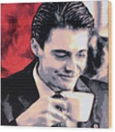 Damn Fine Cup Of Coffee Wood Print