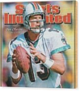 Dan Marino Hall Of Fame Class Of 2005 Sports Illustrated Cover Wood Print