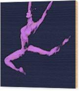 Dancer In The Dark Blue Wood Print