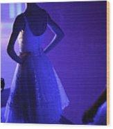 Dancer Standing Backstage Waiting For Wood Print
