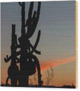 Dancing Saguaro Cactus Wood Print