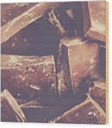 Dark Chocolate Delight Wood Print