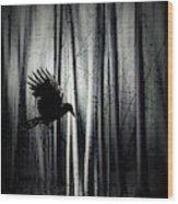 Darker - Raven Wood Print