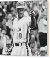 Darryl Strawberry Of The New York Mets Wood Print
