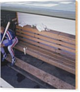 Darryl Strawberry Sits In The Dugout Wood Print