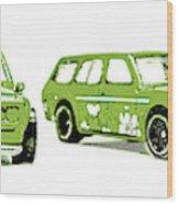 Datsun 510 Comic Strip Wood Print