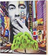 Dave Matthews Dreaming Tree Wood Print