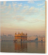 Dawn At The Golden Temple, Amritsar Wood Print