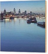 Dawn On The Thames Xxl Wood Print