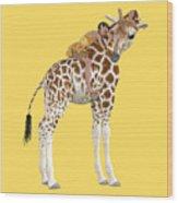 Daydreaming Of Giraffes Png Wood Print