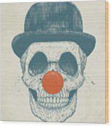 Dead Clown Wood Print
