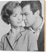 Debbie Reynolds And Tony Curtis Wood Print