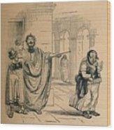 Debtor And Creditor - Seizure Of Goods Wood Print