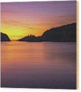 Deception Pass Sunset Serenity Wood Print