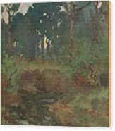 Decorative Landscape Study, C.1903 Wood Print