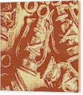 Decoratively Historic Wood Print