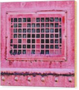 Deep Pink Train Engine Vent Square Format Wood Print