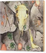 Deer Skull Wood Print