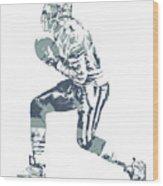 Deion Sanders Dallas Cowboys  Pixel Art 5 Wood Print
