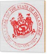 Delaware Seal Stamp Wood Print
