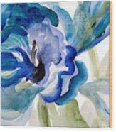 Delicate Blue Square I    Wood Print