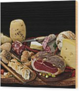 Delicious Typical Argentinean Antipasto Wood Print